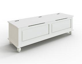 3D asset HORNSUND Bench white stained