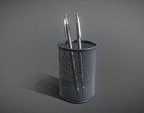 Wire Mesh Scissor Pen Pencil Holder 3D model