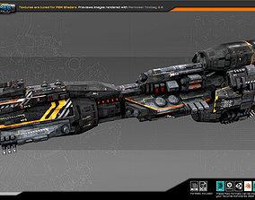 Federation Dreadnought 2D 3D asset