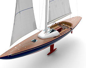 yacht Eagle 44 3D model holland