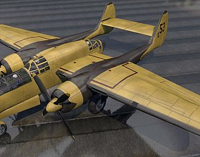 Northrop P-61 Fire Bomber 3D model