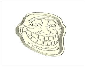 3D print model Trollface Cookie Cutter
