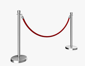 Rope Barrier Post 3D movie