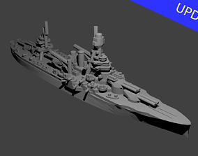 US New York Class Battleship 3D print model