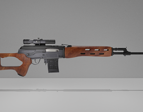 SVD - Sniper Rifle System of Dragunov 3D model