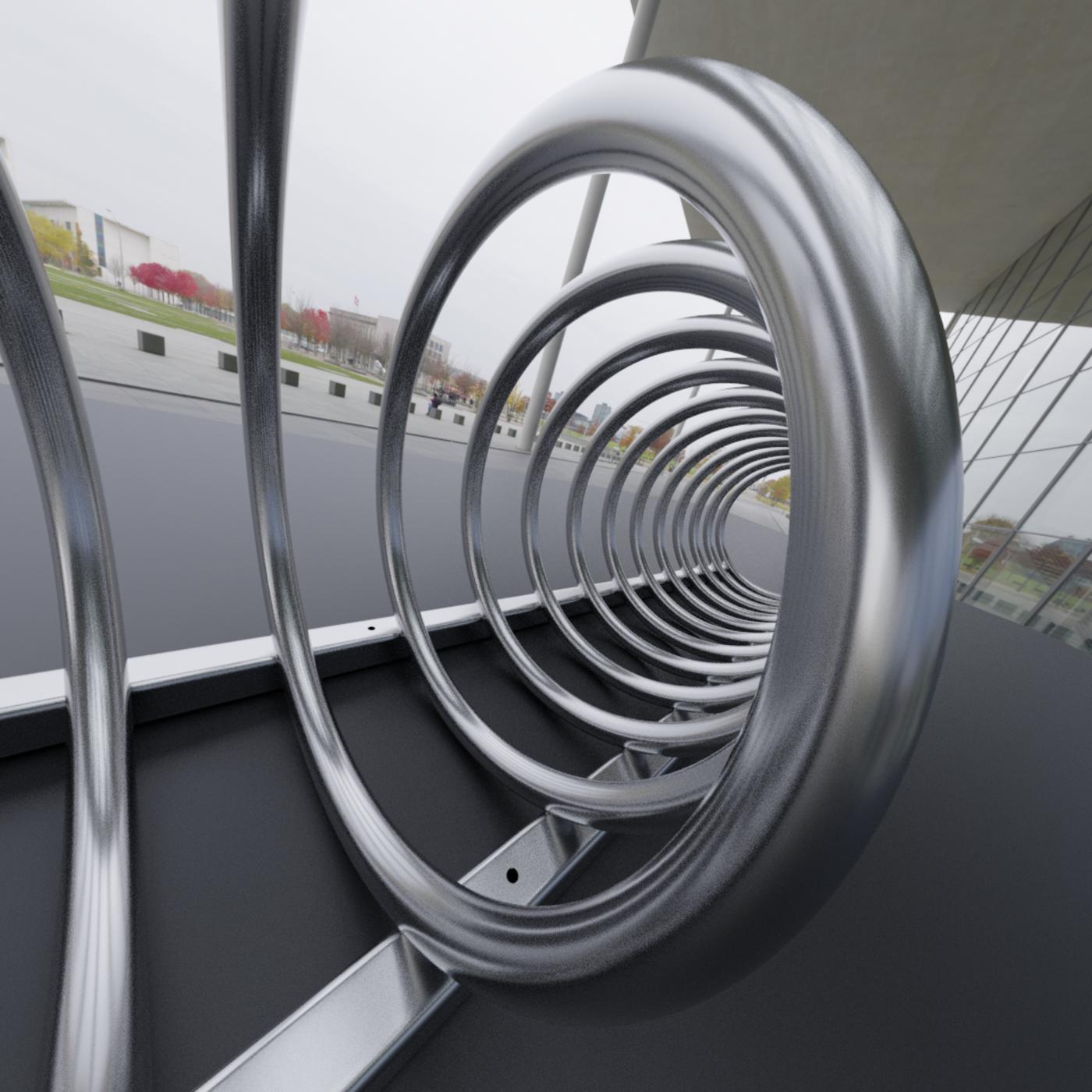 Spiral Bike Stand -2- High-Poly Version