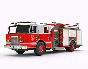 Fire Truck 3D asset game-ready