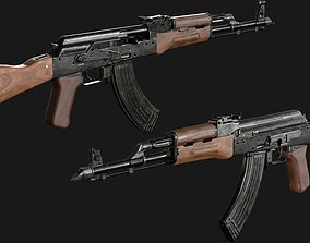 3D asset VR / AR ready AKM rifle