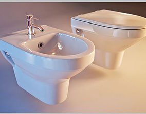 3D model Toilet Cersanit olimpia