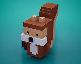 Voxel - Squirrel 3D asset