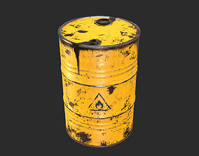 Old Rusty Oil Drum with oil leakage Game 3D model