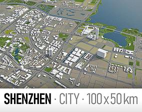 Shenzhen - city and surroundings 3D asset