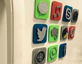 3D model IOS icon fridge magnet CAMERA