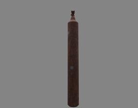 3D asset oxygen cylinder rusted