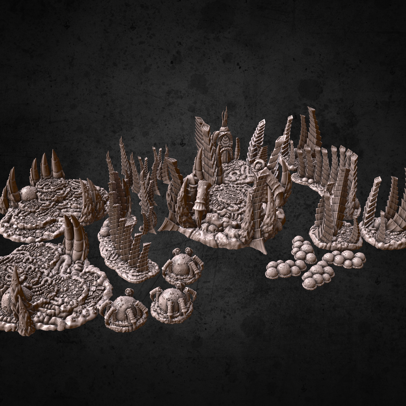 Tyranid Biomass Mounds Printable Terrain