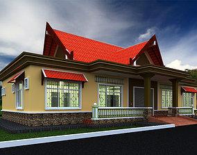 3D model commercial public building