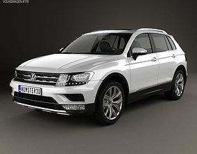 Volkswagen Tiguan Highline 2015 3D model