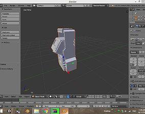 3D model Sci fi ATM
