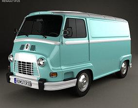 Renault Estafette Panel Van 1976 3D model