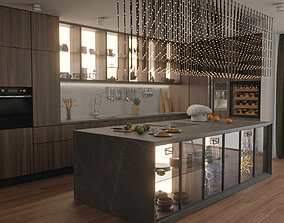 3D Kitchen and Dining room