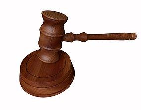 3D PBR gavel verdict