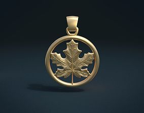 Maple Pendant 3D print model