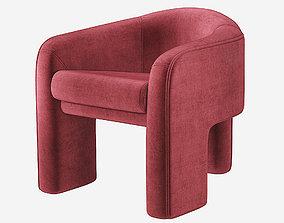 Vladimir Kagan Sculptural Chair Weiman 3D model