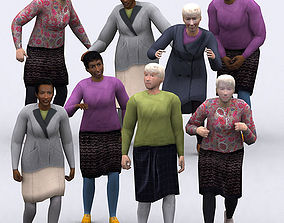 3DRT - Realpeople Seniors animated game-ready