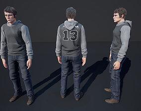Man Character Casual 3 3D asset