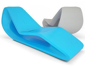 3D model Plastic Deckchair Organic