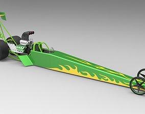 Top fuel dragster drag-set 3D