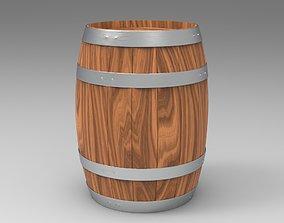 Barrel Lowpoly 3D Model low-poly