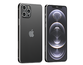 3D iPhone 12 Pro Graphite