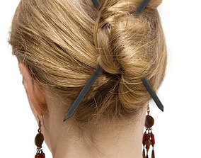 Love Hair Stick 3D printable model