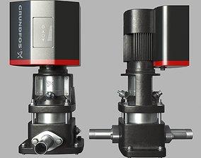 3D model Water pump Grundfos CRE