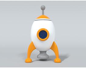 Space Rocket 3 3D model