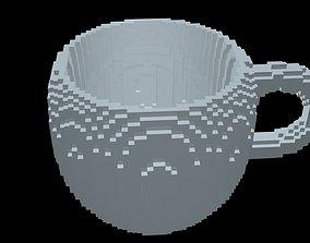 Mug voxel 1 3D