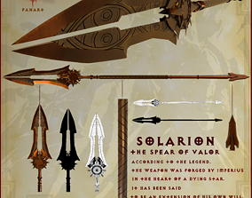 Solarion the spear of valor 3D model
