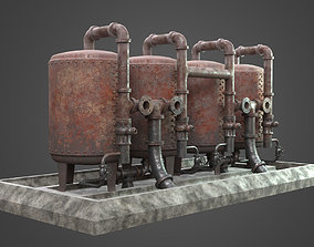 Factory Element - Boiler Machine 3D asset