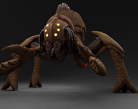 3D model animated low-poly Creature