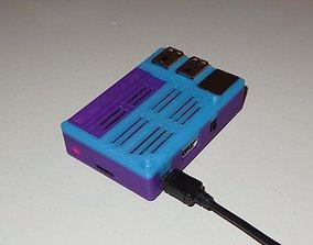 Raspberry Pi2 Pi3 Case with GPIO 3D printable model 1