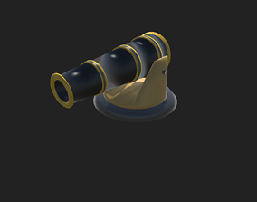 3D model Simple low-poly cannon