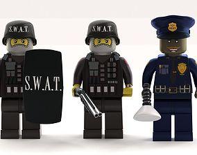 Lego Police Officer mini pack 3D