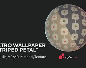 3D asset Retro wallpaper Striper petal Texture