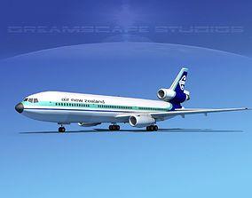 3D model Douglas DC-10 Air New Zealand