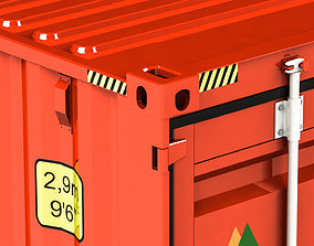 Detailed 40 ft shipping container 3D model