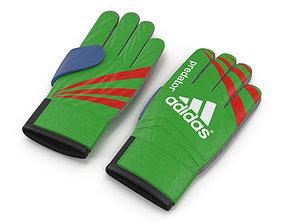 Goalie Gloves Adidas 3D model