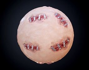 Skin Flesh Blood Cut Stitches Seamless PBR 3D model 2