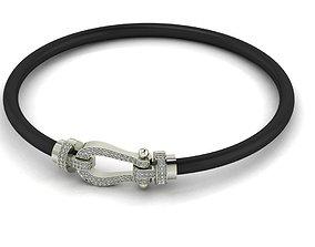 Mens bracelet 3D printable model