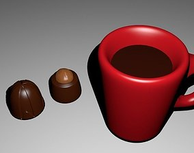 3D model Tea with sweets